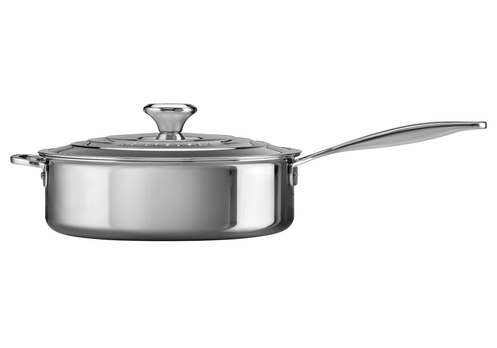Le Creuset Stainless Steel Saute Pan 4 5 Quart Cutlery