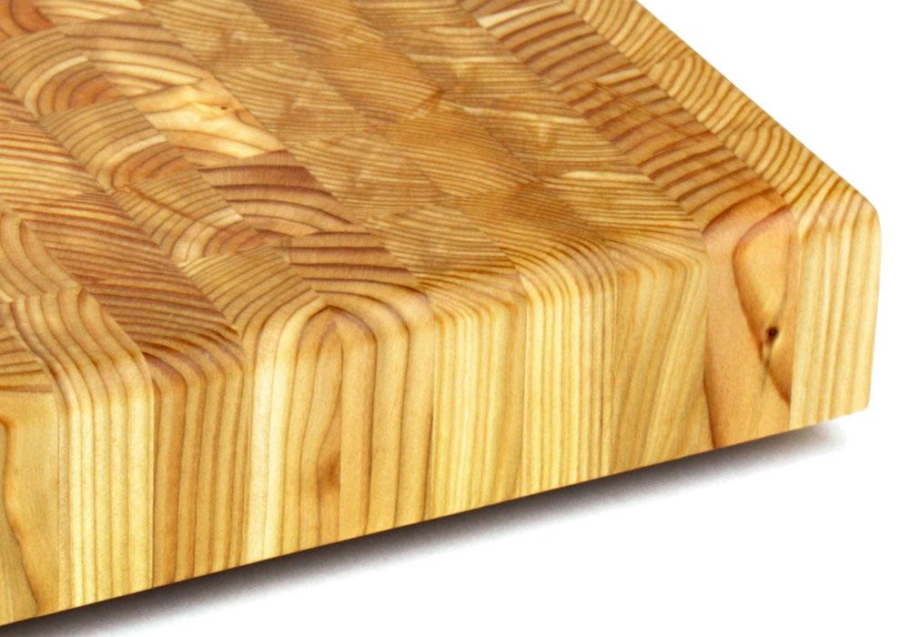 Larch Wood Square End Grain Cutting Board 14 X 2 Inch