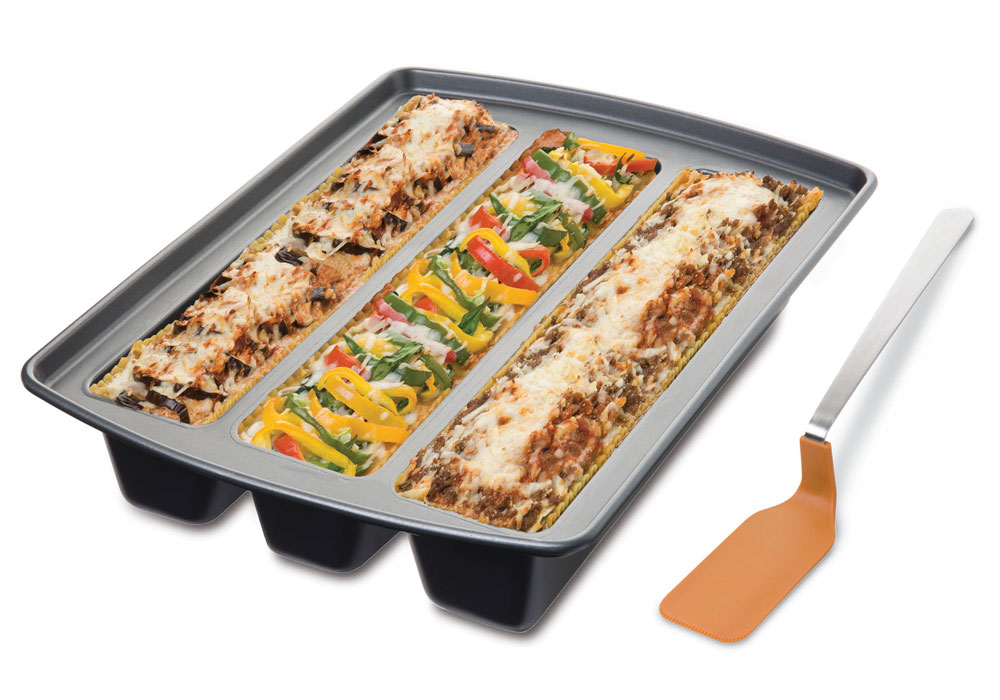 Chicago Metallic Nonstick Lasagna Trio Pan Amp Spatula Set