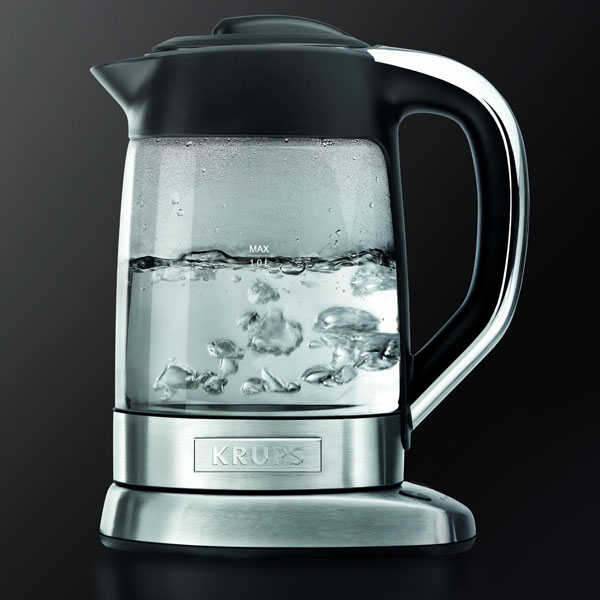 Krups Glass Electric Kettle With Tea Infuser Cutlery And