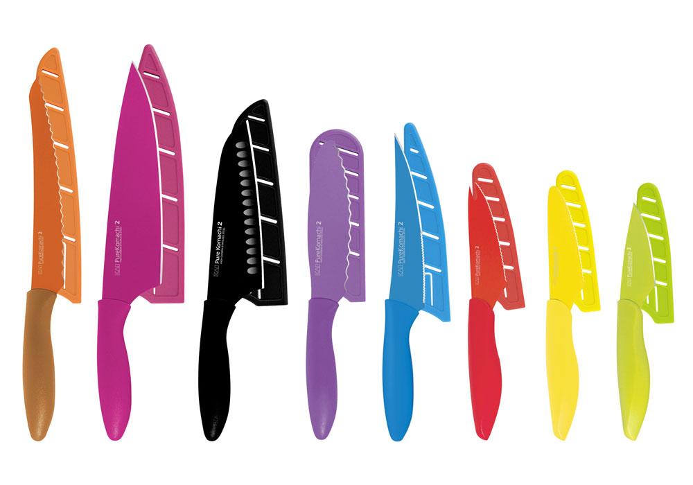 Kai Pure Komachi 2 Nonstick Knife Set With Block Amp Sheaths