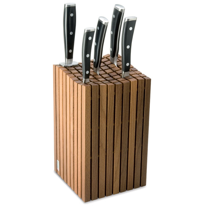 wusthof birchwood grid knife block 13 slot cutlery and more. Black Bedroom Furniture Sets. Home Design Ideas