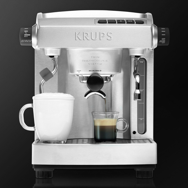 Krups Stainless Steel Twin Thermoblock Espresso Machine