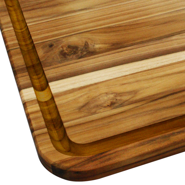 Madeira Mario Batali Teak Edge Grain Carving Board 13