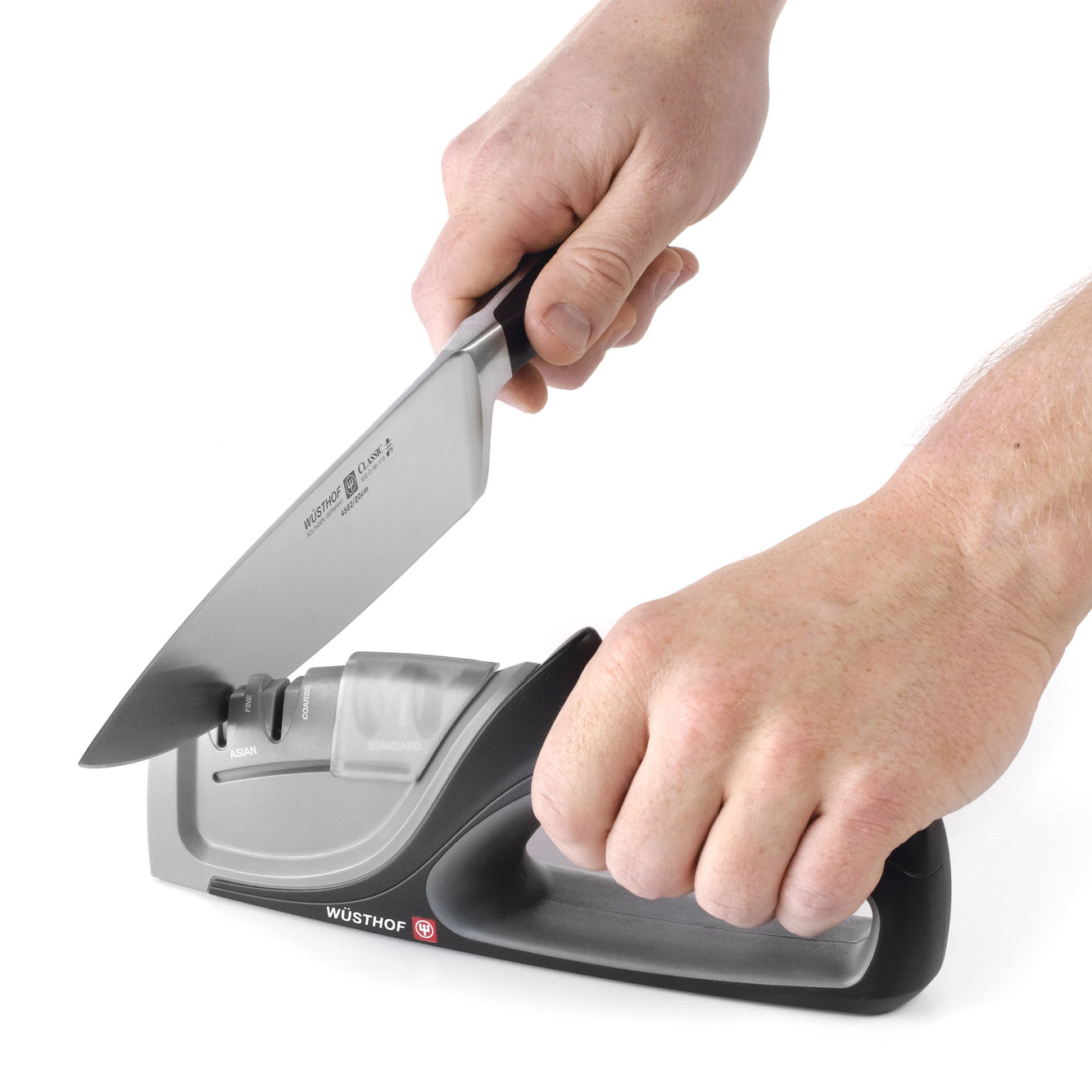 wusthof 4 stage universal hand held knife sharpener cutlery and more
