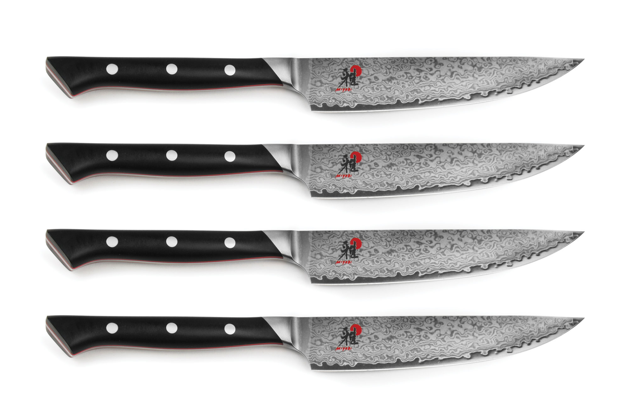 Miyabi Fusion Steak Knife Set With Bamboo Case 4 Piece