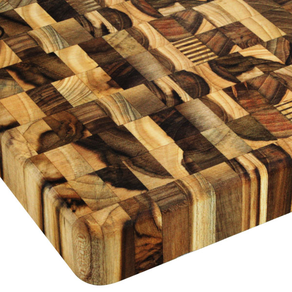 Madeira Square Mario Batali Teak End Grain Cutting Board