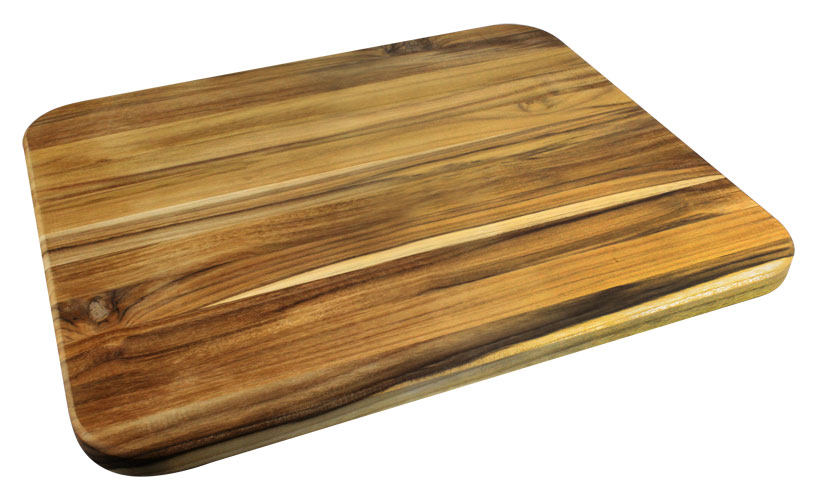 Madeira Teak Edge Grain Cutting Board With Groove 17