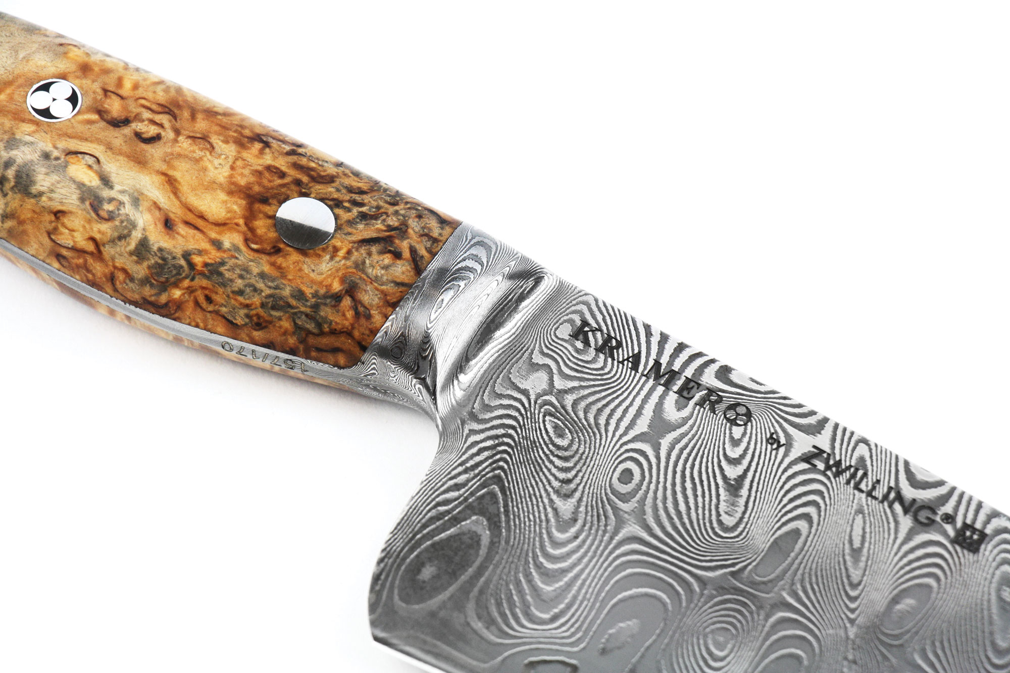 kramer by zwilling limited edition hand forged carbon damascus
