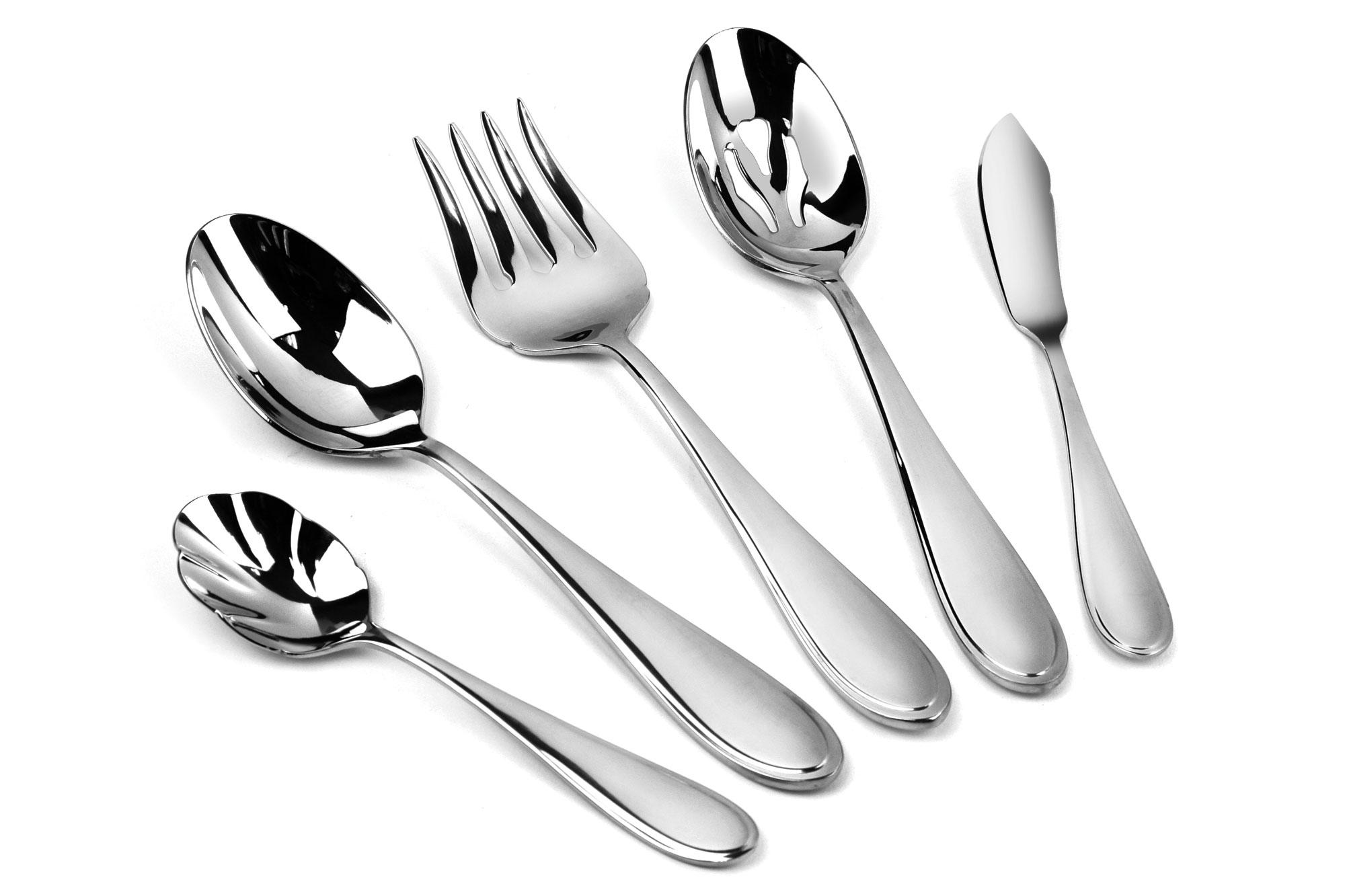 Yamazaki austen stainless steel flatware set 45 piece cutlery and more - Yamazaki stainless steel flatware ...