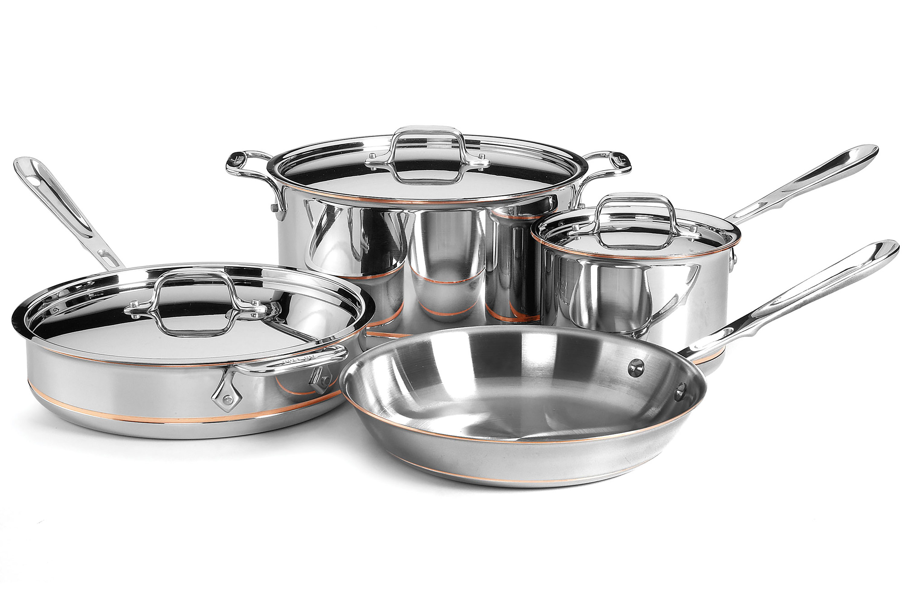 All Clad Copper Core Signature Cookware Set 7 Piece