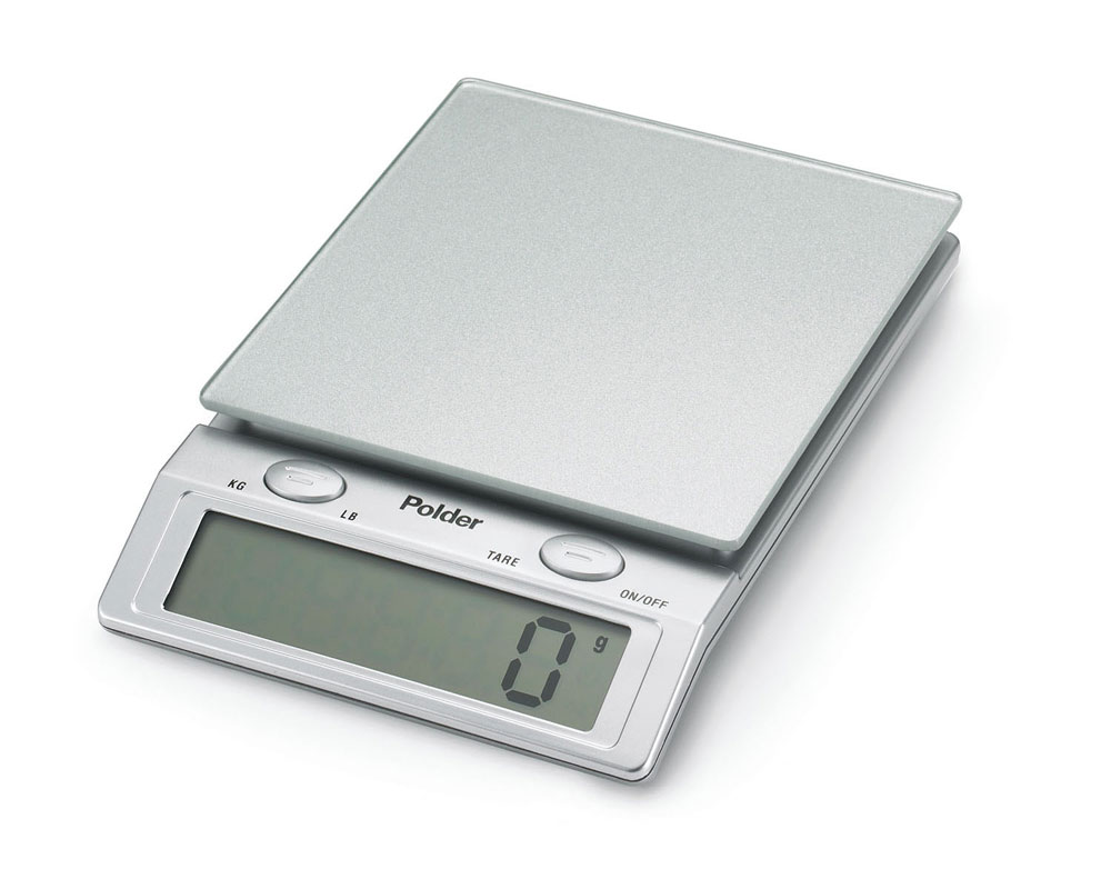Polder Glass Top Digital Kitchen Scale 11 Pound Cutlery And More