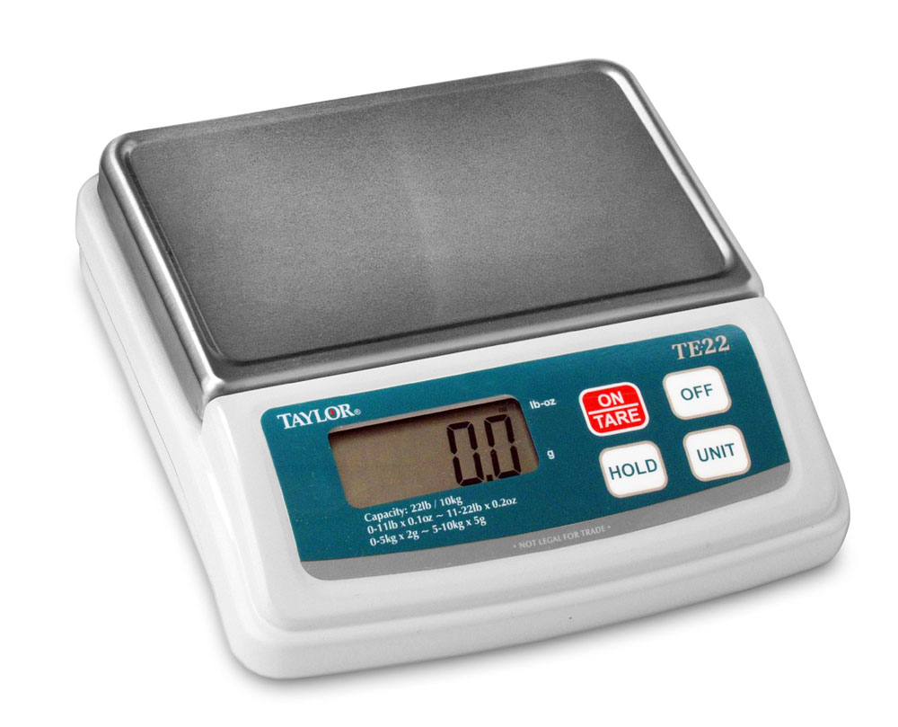 Taylor Digital Commercial Portion Control Scale 22lb