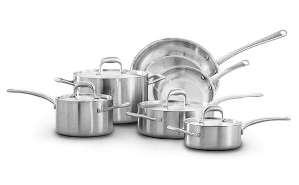 Usa Made Tri Ply Stainless Steel Cookware Set 10 Piece