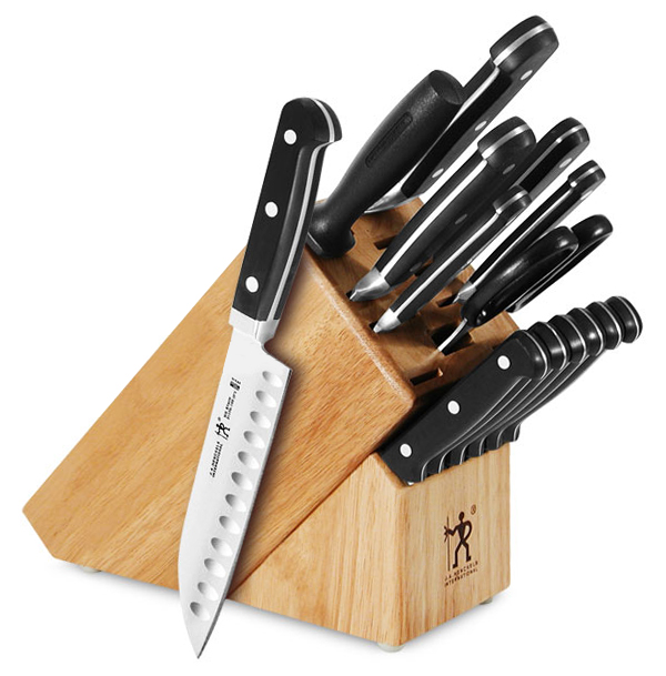 28 henckels classic forged knife block set 15