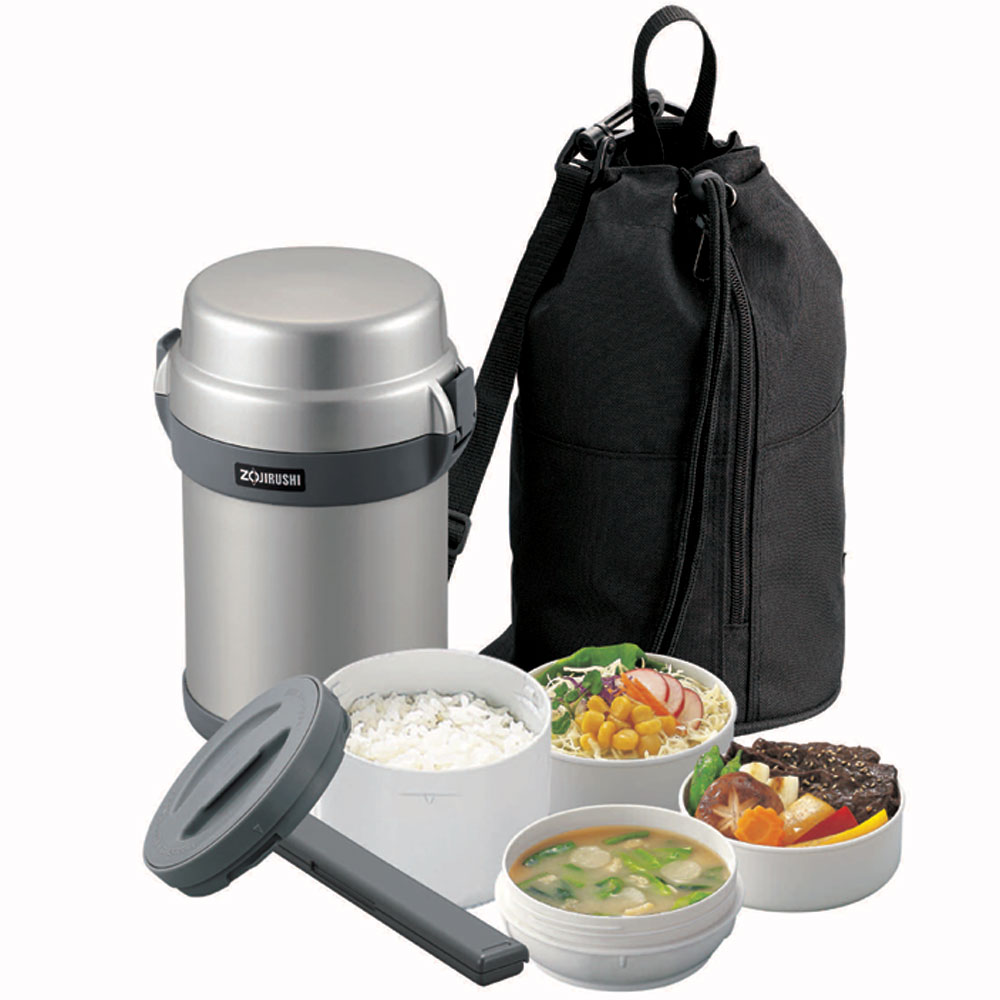 zojirushi mr bento stainless microwavable lunch jar set cutlery and more. Black Bedroom Furniture Sets. Home Design Ideas