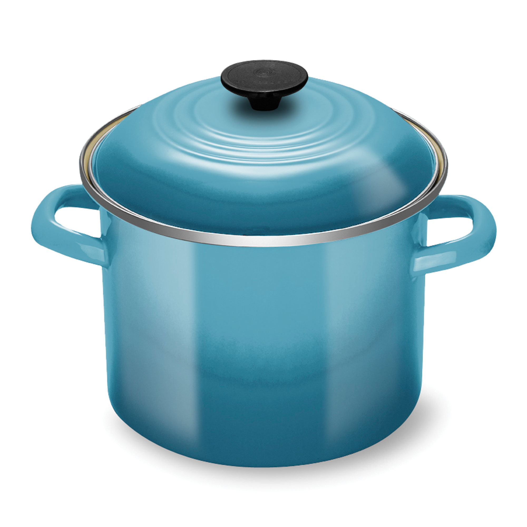 Le Creuset Enameled Steel Stock Pot 6 Quart Caribbean