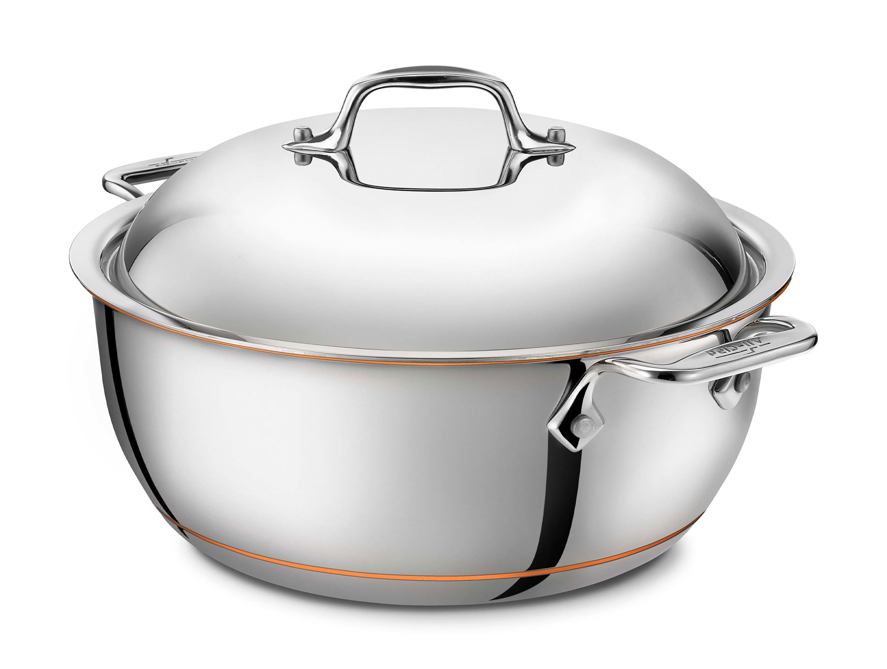 All Clad Copper Core Round Dutch Oven 5 5 Quart Cutlery