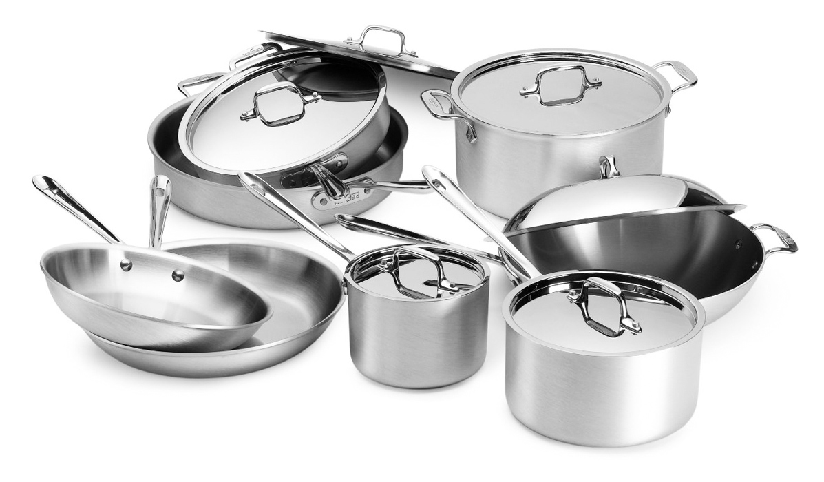 All Clad Master Chef 2 Cookware Set 14 Piece Cutlery