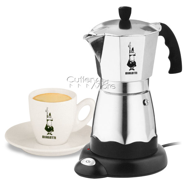 bialetti electric cafe moka express espresso maker 6 cup. Black Bedroom Furniture Sets. Home Design Ideas