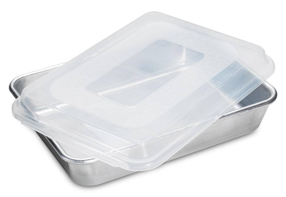 Nordicware Natural Bakeware Rectangular Cake Pan With Lid