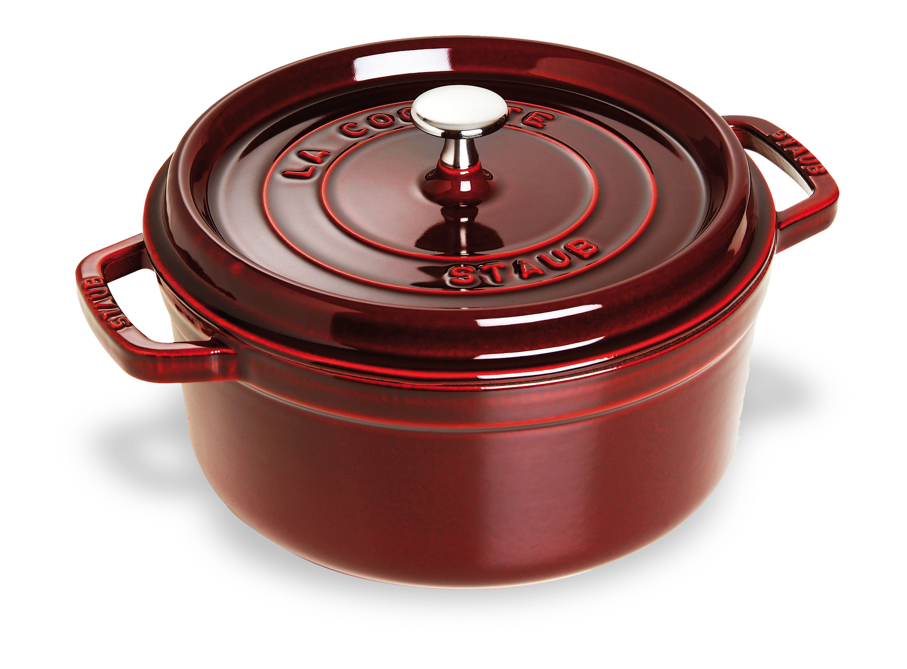 Staub Round Dutch Oven 7 Quart Grenadine Cutlery And More