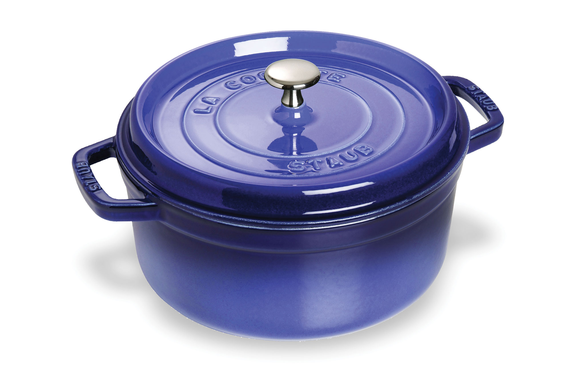 Staub Round Dutch Oven 7 Quart Royal Blue Cutlery And More