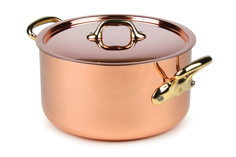 Mauviel M Heritage 250b 2 5mm Copper Stock Pot 6 4 Quart