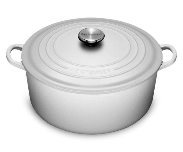 Le Creuset Cast Iron Round Dutch Oven 7 25 Quart White