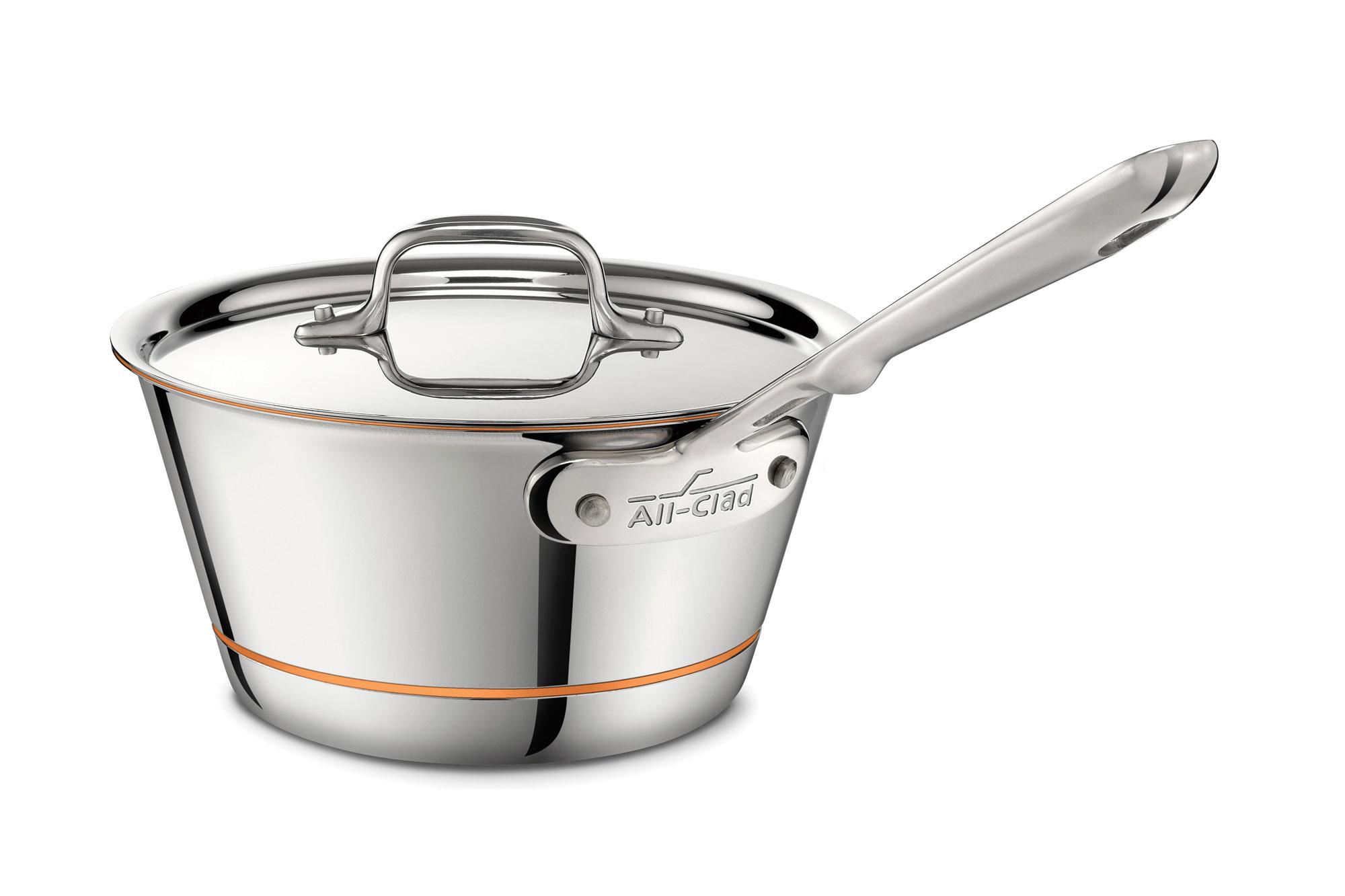 All Clad Copper Core Windsor Saucepan 2 5 Quart Cutlery
