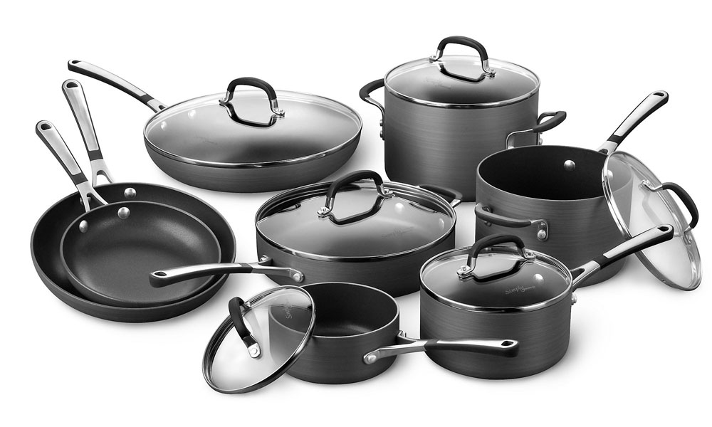 calphalon simply nonstick ultimate cookware set 14piece cutlery and more