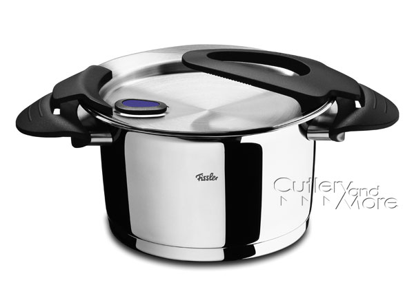 fissler intensa stainless steel high stock pot 6 9 quart cutlery and more. Black Bedroom Furniture Sets. Home Design Ideas