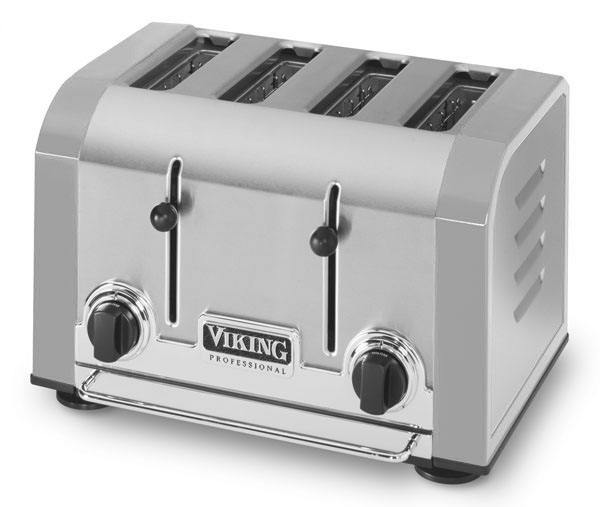 Viking Toaster 4 Slot Stainless Grey Cutlery And More