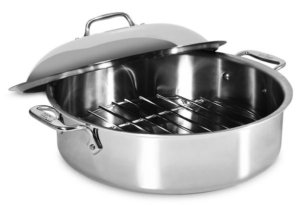All Clad Original Stainless French Braiser Pan With Rack