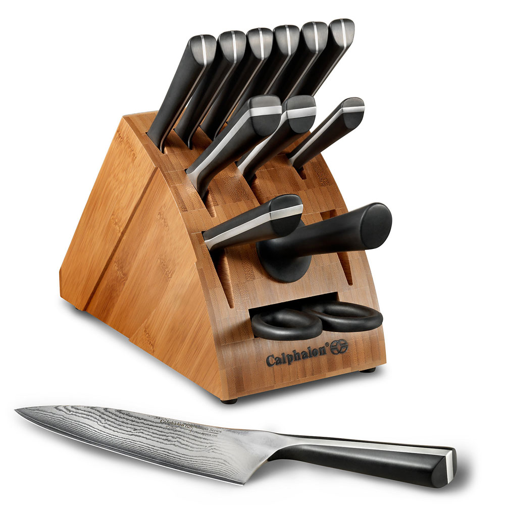 calphalon katana knife block set, 14-piece | cutlery and more