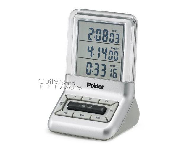 Polder Digital See Thru Triple Timer Clock Cutlery And More
