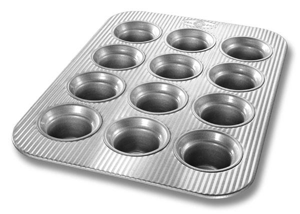 Usa Pans Nonstick Aluminized Steel Crown Muffin Pan 12