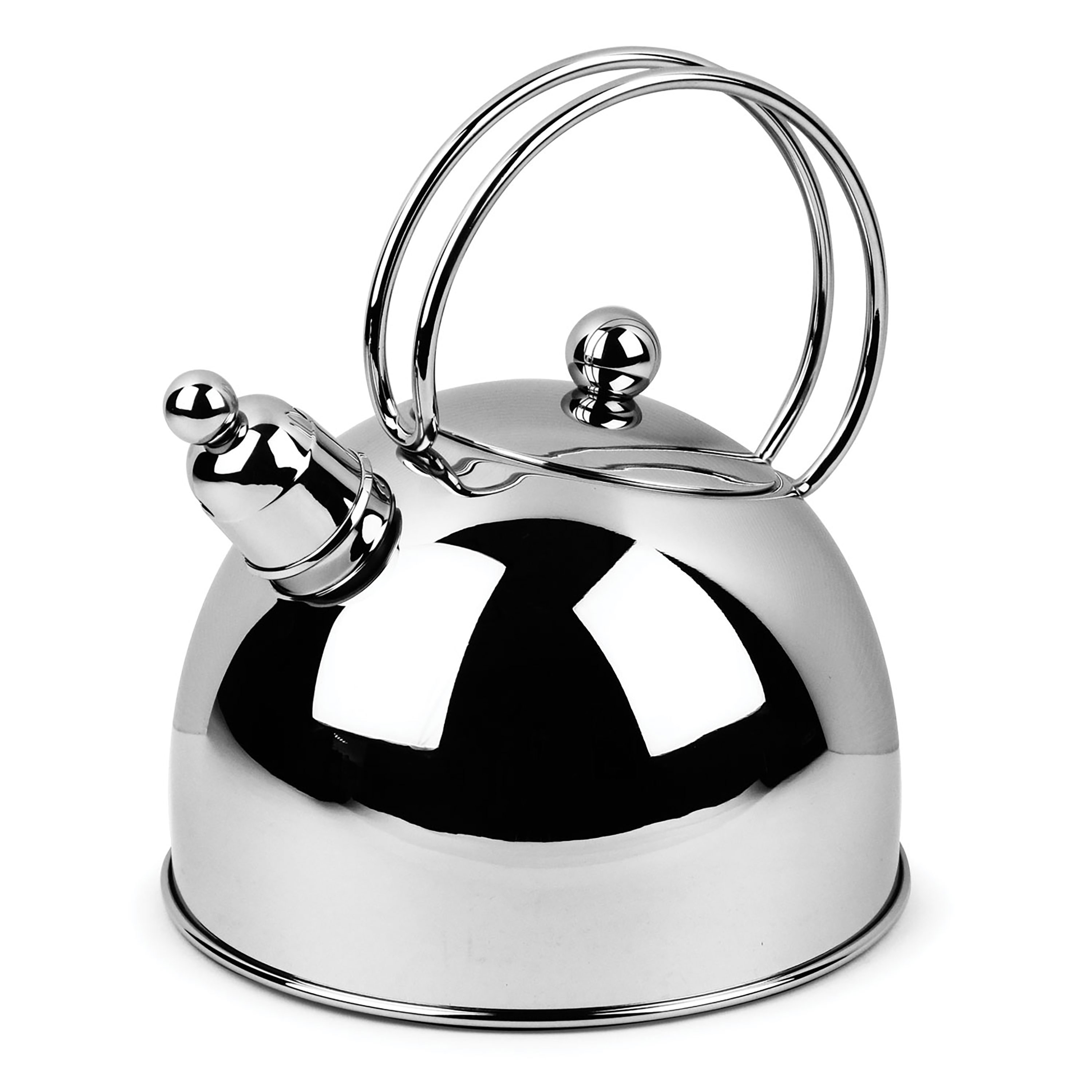 demeyere resto stainless steel whistling tea kettle 26quart cutlery and more - Demeyere