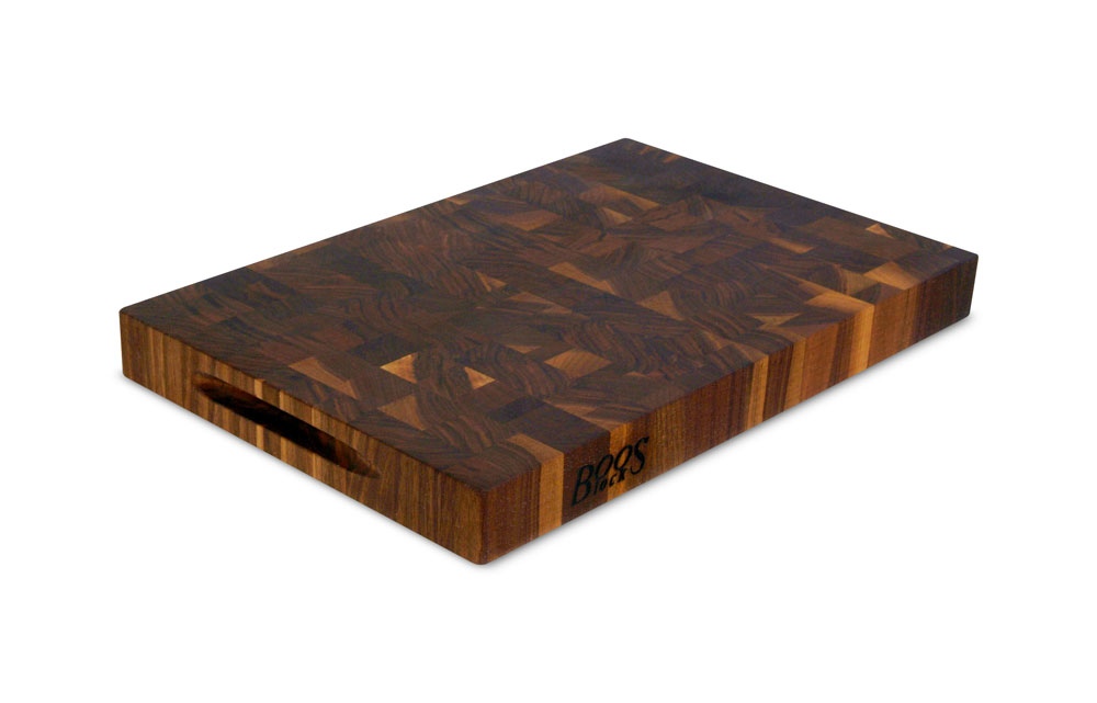 John Boos Walnut End Grain Cutting Board 18x12x1 75