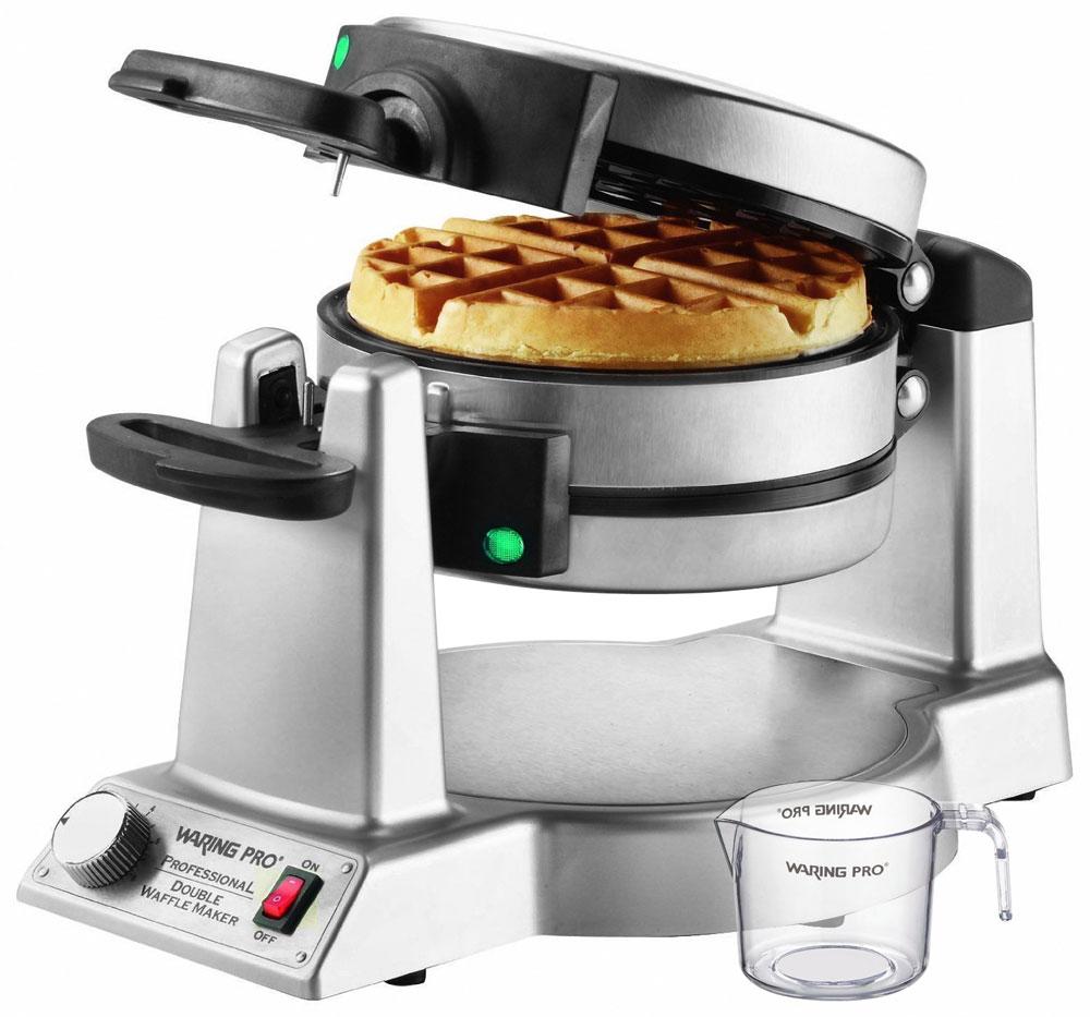 Waring Pro Stainless Steel Double Flip Belgian Waffle