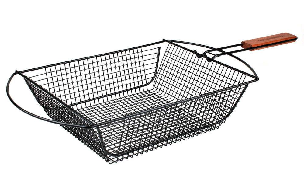 Charcoal Companion Nonstick Shaker Grill Basket With