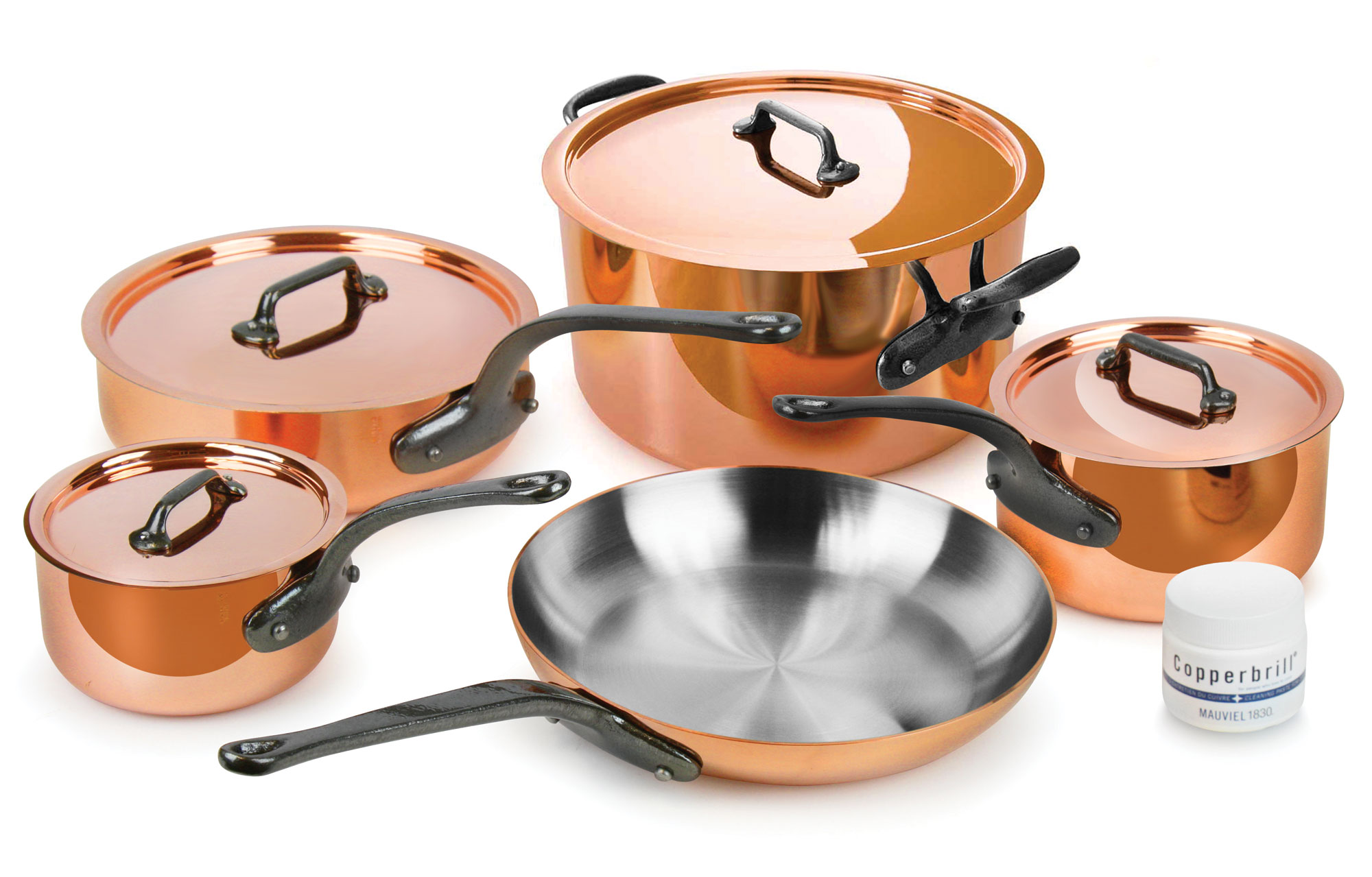 mauviel 250c copper cookware set 9piece cutlery and more - Mauviel