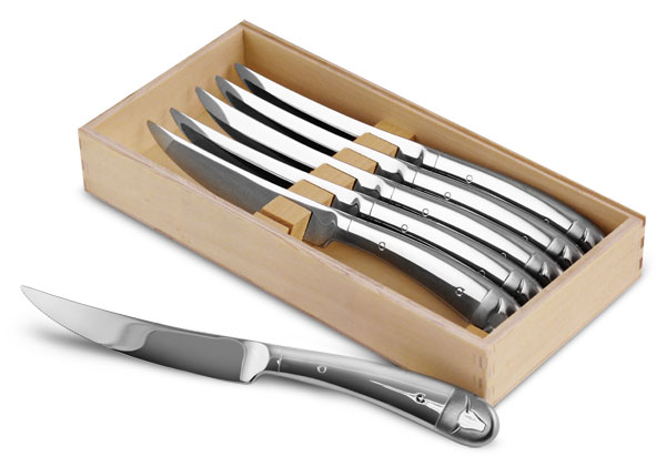 Wmf Stainless Steel Steak Knife Set 6 Piece Cutlery And
