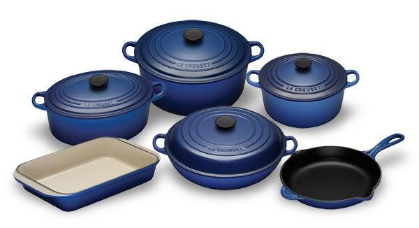 Le Creuset Cast Iron Premier Cookware Set 10 Piece Cobalt