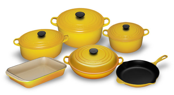Le Creuset Cast Iron Premier Cookware Set 10 Piece Dijon