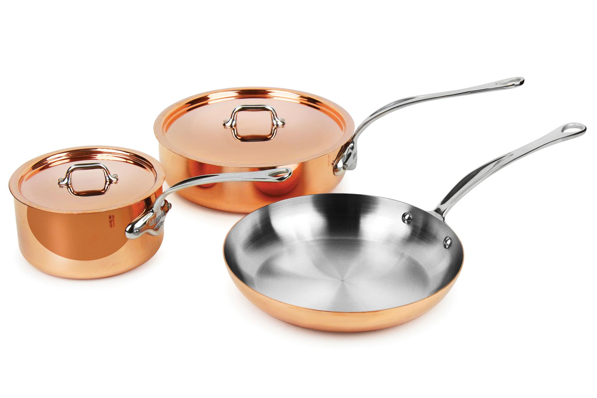 Mauviel M Heritage 150s Copper Cookware Set 5 Piece