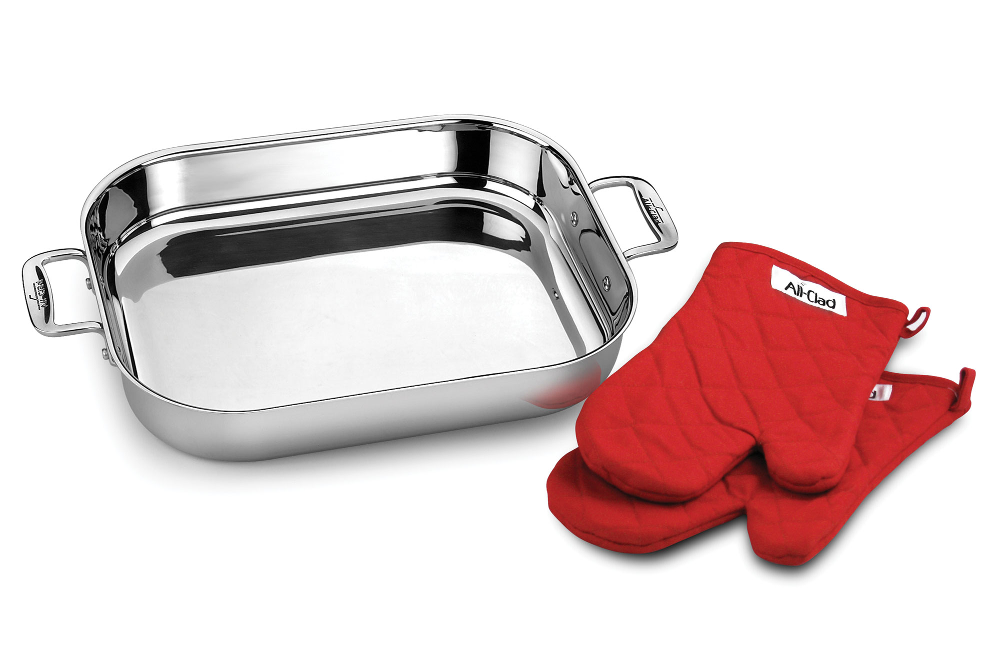 All Clad Stainless Steel Lasagna Pan With Oven Mitts