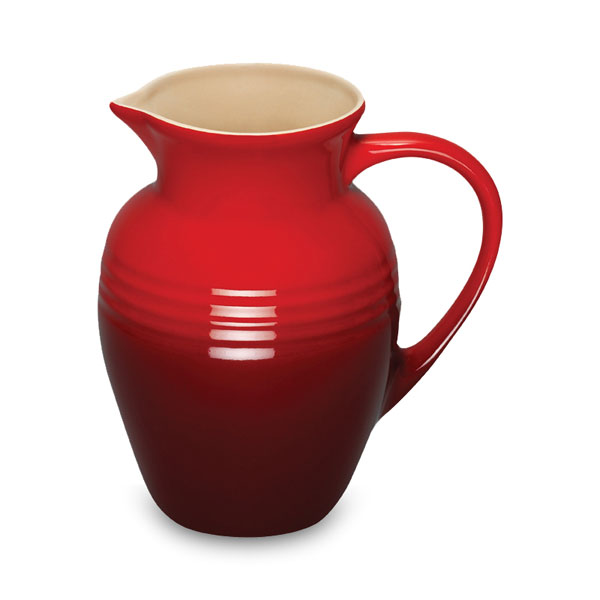 Le Creuset Stoneware Pitcher 2 25 Quart Cherry Red