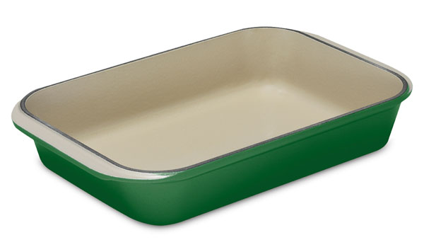 Le Creuset Cast Iron Roasting Pan 14x10 Quot Fennel