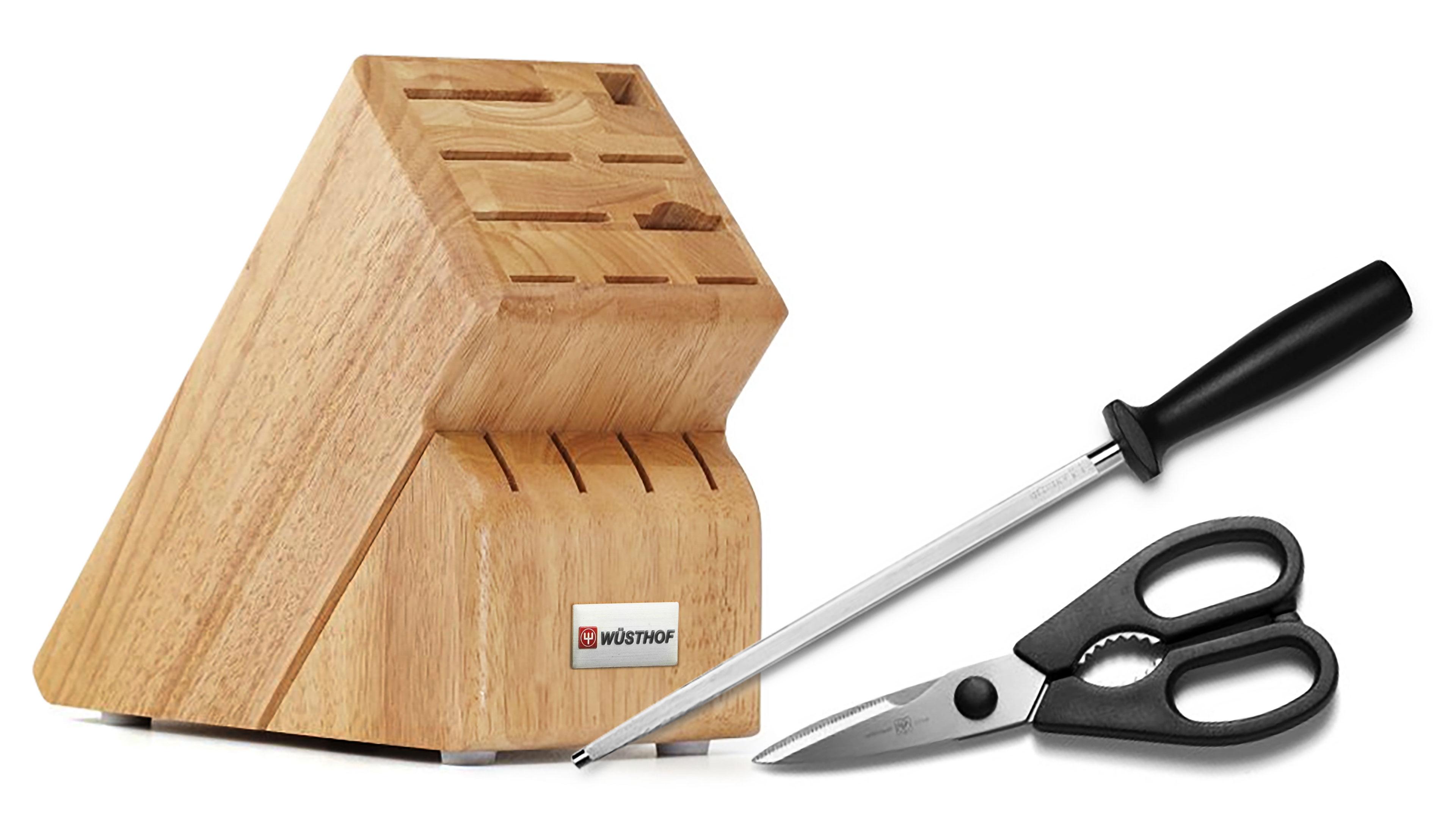 Wusthof 13 Slot Create A Set Knife Block Steel Shears